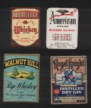 Collectible whisky whiskey bottle labels selection #026